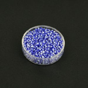 Bead, Seed beads, Glass, blue, white, Disc shape, 2mm, 25g, 1650 Beads, (SSZ027)